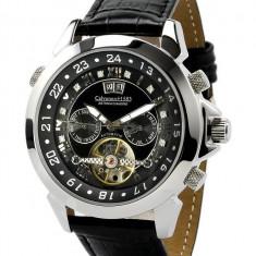 Ceas de lux Calvaneo 1583 Astonia Diamond Black, original, nou, cu factura si garantie! - Ceas barbatesc Calvaneo, Lux - elegant, Mecanic-Automatic