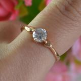 LIVRARE GRATIS Inel placat filat aur roz 14k gold filled piatra zirconiu