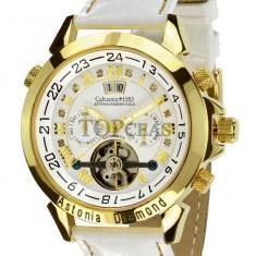 Ceas de lux Calvaneo 1583 Astonia Diamond White Gold, original, nou, cu factura si garantie! - Ceas barbatesc Calvaneo, Lux - elegant, Mecanic-Automatic
