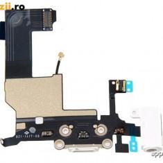 Conector alimentare iPhone 5 White Original
