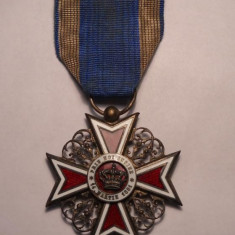 Coroana Romaniei Cavaler Primul Model Civil Superba - Ordin/ Decoratie
