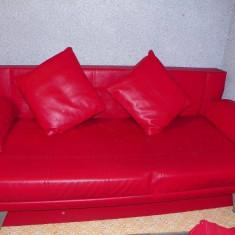 Canapea cu 2 fotolii, Canapele extensibile, Din piele ecologica