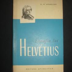 H. N. MOMDJIAN - FILOZOFIA LUI HELVETIUS  {1962}