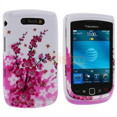 Husa plastic slide Blackberry 9800 torch + folie protectie ecran + expediere gratuita - Husa Telefon