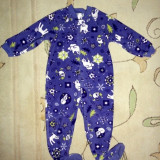 Pijama polar cu urs polar, marca Childrens Place, unisex 24 luni