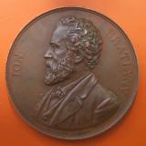 1891 Ion Bratianu liderul Partidului Liberal medalie 51mm patina superba