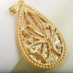 Okazie!!! Pandant filat cu aur 9K, super pret!!! - Pandantiv placate cu aur