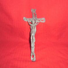 Crucifix din bronz masiv foarte vechi 20x9 cm nr 2