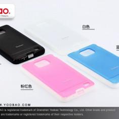 Husa TPU 2 in 1 + Folie Protectie Samsung Galaxy S2 i9100 by Yoobao Originala Pink - Husa Telefon