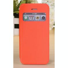 Toc flip S view Iphone 5C + folie protectie ecran + expediere gratuita