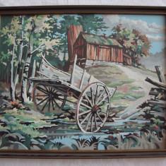 Superba pictura - goasa pe placaj - Tablou autor neidentificat, Altul