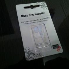 Vand Set Suport Adaptor Cartela SIM Taiata Apple iPhone 4 / 4S / 5 / 5S Samsung HTC Motorola la Cartela SIM Intreaga Micro SIM / MICROSIM NANOSIM - Adaptor microsim