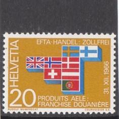 EFTA Elvetia 1966 - Timbre straine