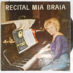 {DISC VINYL} MIA BRAIA - RECITAL (vinyl, ELECTRECORD) - Muzica Blues electrecord, VINIL