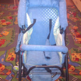 CARUCIOR 2 in 1 ATLANTA 3, marca BERTONI - Carucior copii 2 in 1 Bertoni, Altele, Pliabil, Albastru, Maner reversibil