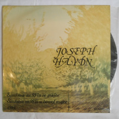 {DISC VINYL} JOSEPH HAYDN - SIMFONIA NR.93 IN RE MAJOR / SIMFONIA NR. 98 IN SI BEMOL MAJOR (vinil, ELECTRECORD) - Muzica Clasica