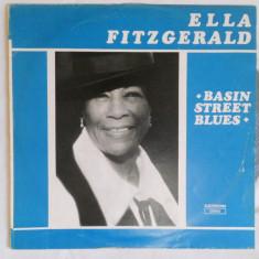 {DISC VINYL} ELLA FITZGERALD - BASIN STREET BLUES (vinil, ELECTRECORD) - Muzica Blues