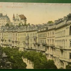Karlsbad Obere Parkstrasse - 1906 circulata
