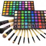 Trusa machiaj profesionala 120 culori Rainbow Fraulein Germania + Set 12 pensule, Fraulein38