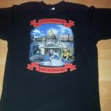 Tricou Sankt Petersburg, L, Maneca scurta, Negru