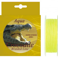 Fir textil Aqua Crocodile 250m pentru pescuit la somn si crap - Fir Pescuit Baracuda