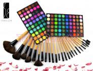123123Trusa machiaj profesionala 120 culori Rainbow Fraulein Germania + Set 24 pensule