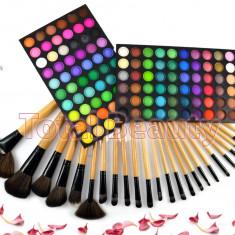 Trusa machiaj profesionala 120 culori Rainbow Fraulein Germania + Set 24 pensule - Trusa make up