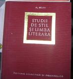 Studii de stil si limba literara - Al. Bojin
