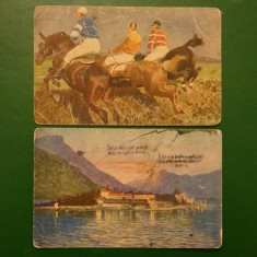Set 2 vederi:Calareti, vedere necirculata;Peisaj, vedere nr 7275 necirculata