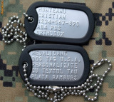 Placute identificare dog tag armata SUA