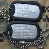 Placute identificare dog tag armata SUA