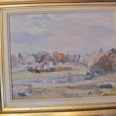 "PVM - Tablou splendid ""Peisaj"" ulei pe pinza semnat Florescu '97"