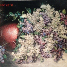 Pictura in relief Isaac Berliner - Liliac - Pictor strain, Peisaje, Altul