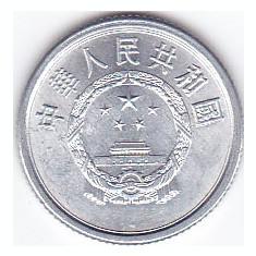 Moneda China ( Republica Populara ) 1 Fen 1983 - KM#1 UNC, Asia