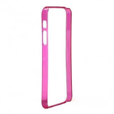 Bumper iPhone 5 5S Frame Ultra Slim 0.2mm Siclam - Bumper Telefon, Roz