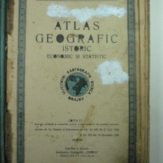 ATLAS GEOGRAFIC ISTORIC ECONOMIC SI STATISTIC - INSTITUTUL DE CARTOGRAFIE