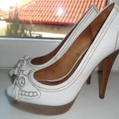 Pantofi ZARA - Pantof dama Zara, Culoare: Alb, Marime: 37, Alb