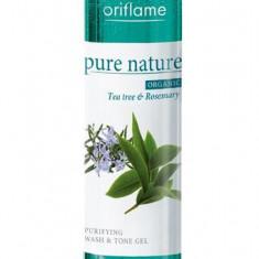 Loţiune de curăţare & tonifiere cu extracte din arbore de ceai şi rozmarin Pure Nature Organic - Lotiune Tonica Oriflame