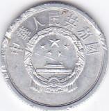 Moneda China  ( Republica Populara ) 2 Fen 1975 - KM#2 XF, Asia