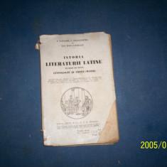 ISTORIA LITERATURII LATINE PE BAZA DE TEXTE C PAPACOSTEA, GH POPA LISSEANU - Carte veche