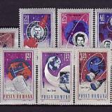 ROMANIA - 10  ANI DE COSMONAUTICA , serie 9 valori ,MNH ,Rr42, Nestampilat