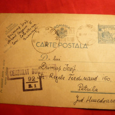 Carte Postala Basarabia cenzurata, 1942