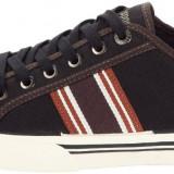 41_Adidasi originali barbati LE COQ SPORTIF_din panza_negru_in cutie, 41, Coffee, Textil, Le Coq Sportif
