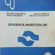 EFICIENTA INVESTITIILOR - Militaru, Neagu, Vasile, Melnic