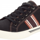 41_Adidasi Originali LE COQ SPORTIF_tenisi panza_maro_in cutie, 41, Coffee, Textil, Le Coq Sportif