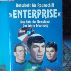 CARTE IN GERMANA-STAR TREK -BOTSCHAFT FUR RUMSCHIFF -ENTERPRISE
