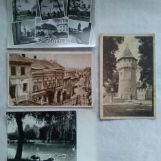 Lot 4 carti postale Sibiu R.P.R. circulate - Carte Postala Transilvania dupa 1918, Circulata