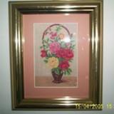 Cosulet cu trandafiri - 10x14 cm - Goblen