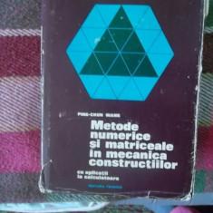 METODE NUMERICE SI MATRICIALE IN MECANICA CONSTRUCTIILOR