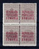 Romania 1948 - Mihai si coroana cu supratipar Republica Populara Romana 1952 - MNH
